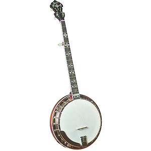 Gold Star GF-100HF Banjo - Hearts &amp; Flowers Inlays