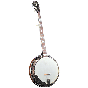 Gold Star GF-200 Banjo - Hearts &amp; Flowers Inlays