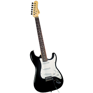 Gladiator GL-011 S-Style Electric Guitar - Black