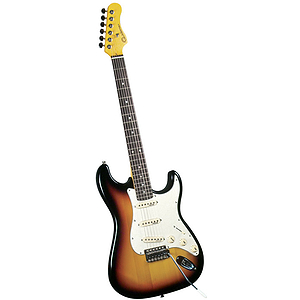 Gladiator GL-111 S-Style Electric Guitar - 3 tone sunburst