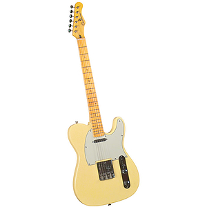 Gladiator GL-121 T-Style Electric Guitar - Vintage White