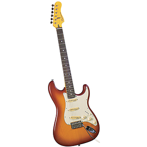 Gladiator GL-211 S-Style Electric Guitar - Brown sunburst