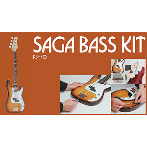 Saga PB-10 P Style Make-Your-Own Electric Bass Kit
