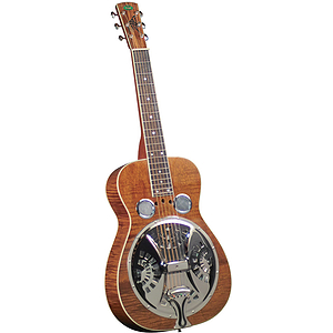 Regal RD-60 Professional Dobro - Flamed Mahogany with Amber Finish