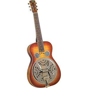 Regal RD-64 Professional Dobro - Flamed Maple with Bourbon Burst Finish