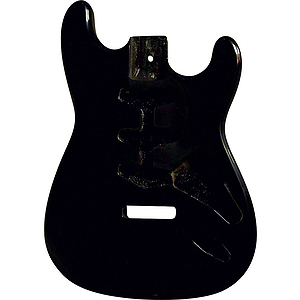 Golden Gate S-201 S Style Guitar Body - Black