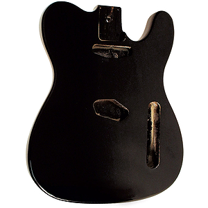 Golden Gate S-301 T Style Guitar Body - Black