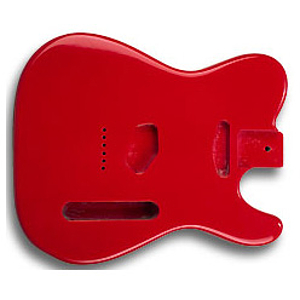 Golden Gate S-304 T Style Guitar Body - Fiesta Red