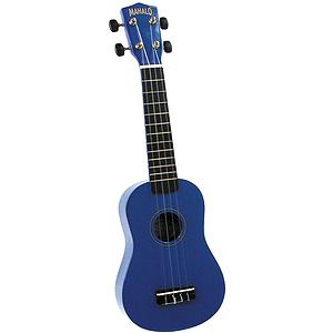 Mahalo U-30BU Soprano Ukulele - Blue w/Gig Bag