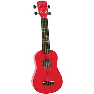 Mahalo U-30RD Soprano Ukulele - Red w/Gig Bag
