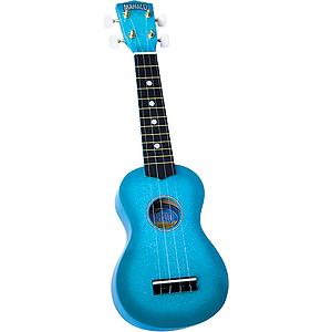 Mahalo U-35BU Sparkling Soprano Ukulele Outfit - Blue