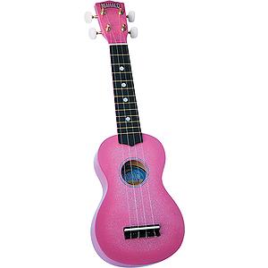 Mahalo U-35PK Sparkling Soprano Ukulele Outfit - Pink