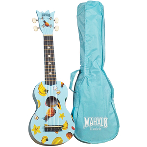 Mahalo UK-30LB Soprano Ukulele Outfit - Light Blue