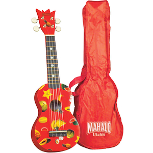Mahalo UK-30R Soprano Ukulele Outfit - Red