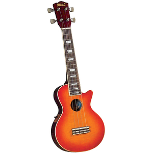 Mahalo ULP-30ECH Cherry Sunburst Electric Ukulele w/Gig Bag