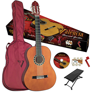 Valencia VG-CG1KN Student Classical Guitar Outfit - Natural - 3/4-size