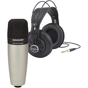 Samson Audio C01/SR850 - Condenser Mic / Headphones Bundle