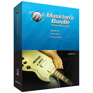 Acoustica Musician's Bundle - Mixcraft, Beatcraft, +Drums & BBox Recording Software Package