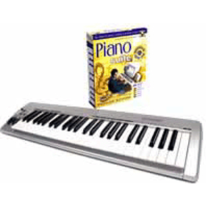 Adventus Piano Suite Deluxe Keyboard Bundle - Piano instruction Software and MIDI Keyboard