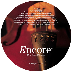 GVOX Encore Notation Software