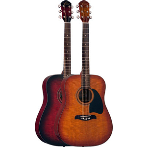 Oscar Schmidt OG2FBC Acoustic Guitar - Flame Black Cherry Finish