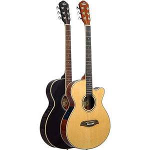 Oscar Schmidt OG8CEB Acoustic-Electric Guitar - Black