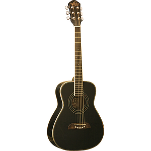 "Oscar Schmidt OGHSB 34"" Children's Acoustic Guitar - Steel String, Black, LEFT-HANDED"