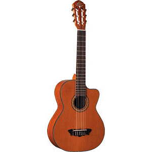 Oscar Schmidt OH30SCE Acoustic-Electric Requinto with Gig Bag