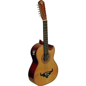 Oscar Schmidt OH42SE Acoustic-Electric Bajo Quinto with Gig Bag