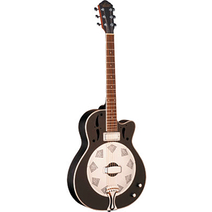 Oscar Schmidt OR6CEB Acoustic-Electric Resonator Guitar - Black