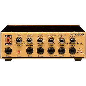 Eden WTX500 World Tour Classic Series Compact Bass Guitar Amplifier Head - 500W @ 4 ohms
