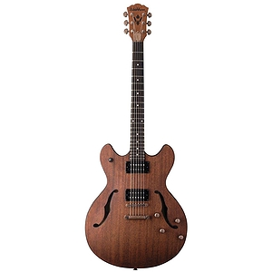 Washburn HB32 Hollow-body Electric Guitar with Case - Distressed Mahogany