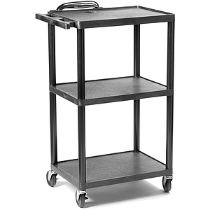 "Buhl Plastic AV Cart Adjustable from 16"" to 42"""