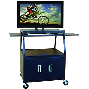 "Buhl Flat Panel AV Cart with Locking Cabinet Adjustable 26"" to 42"""