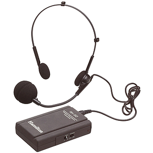Hamilton Electronics Universal Wireless Microphone System, Head Worn Mic, Belt Pack Transmitter, Receiver