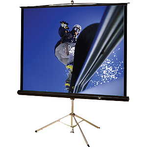 "Buhl Tripod Screen, 80""x 80"", Matte White with Black Borders"