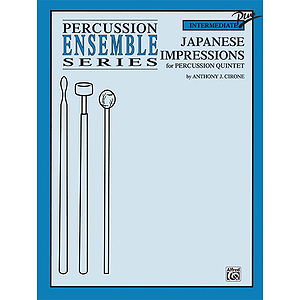 Japanese Impressions Percussion Ensemble Series For Percussion Quintet