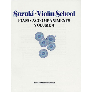 Suzuki Violin School Piano Acc. Volume 4