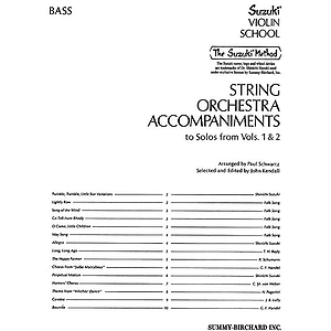 String Orchestra Accompaniments To Solos From Volumes 1 &amp; 2 Bass