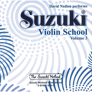 Suzuki Violin School CD Volume 3 (Preformed By David Nadien(includes Separate Accompaniment Tracks)