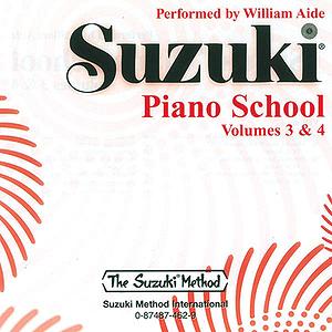 Suzuki Piano School CD Volumes 3 & 4 (Performed By William Aide)