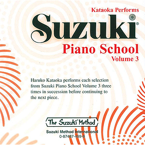 Suzuki Piano Scool CD Volume 3 (Performed By Kataoka)