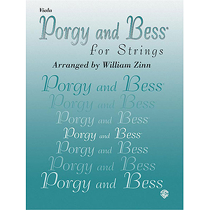 Porgy And Bess For Strings Viola