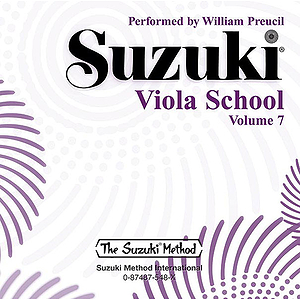 Suzuki Viola School CD Volume 7 (Performed By William Preucil)
