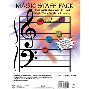 Magic Staff Pack  5 Wipe-Off Slates With Pen And Magic Notes For Music Learning