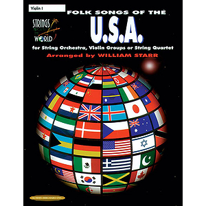 Strings Around The World: Folk Songs Of The U.s.a. Violin 1
