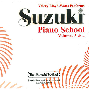 Suzuki Piano School CD Volumes 3 & 4 (Performed By Valery Lloyd-Watts)