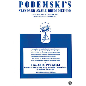 Podemski's Standard Snare Drum Method Including Double Drumsand Introduciton To Timpani