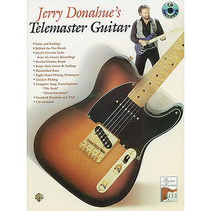 Jerry Donahue&#039;s Telemaster Guitar BK/CD