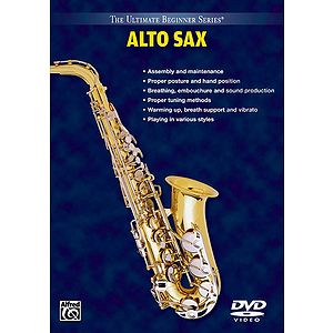 Alto Saxophone Volumes I And II Ultimate Beginner Series (DVD)